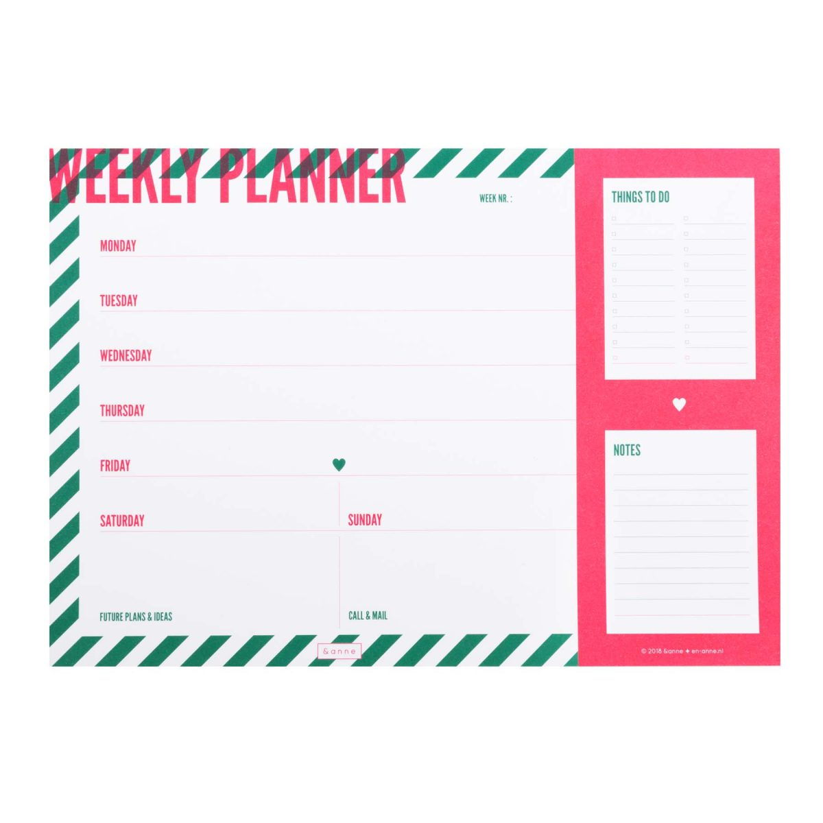&anne Stationery - Weekly planner