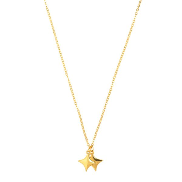 &anne necklace - 24k gold plated necklace with sparkle charm