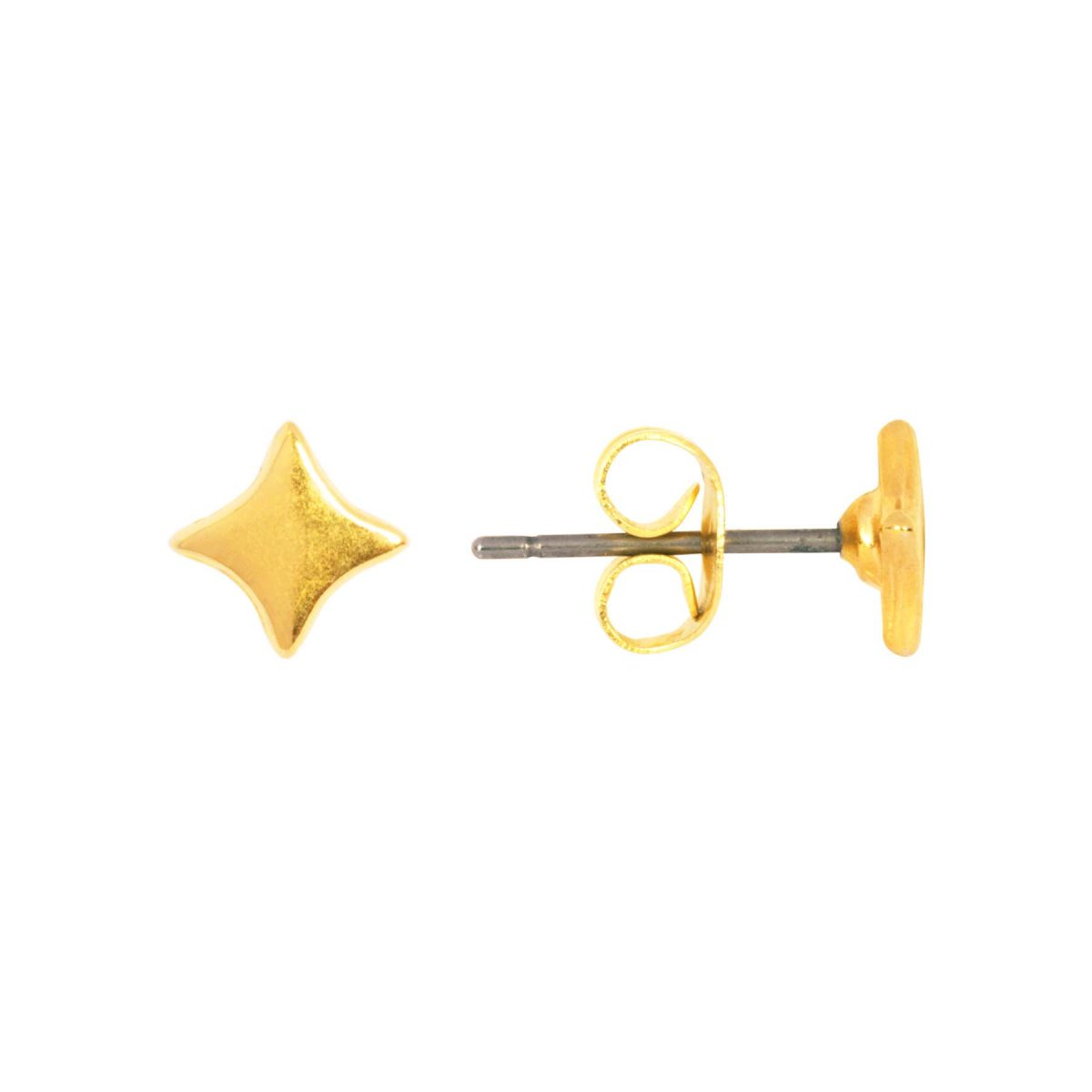 &anne studs - 24k gold plated - sparkle