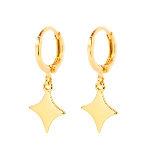 &anne earrings sparkle - 24k gold plated earrings
