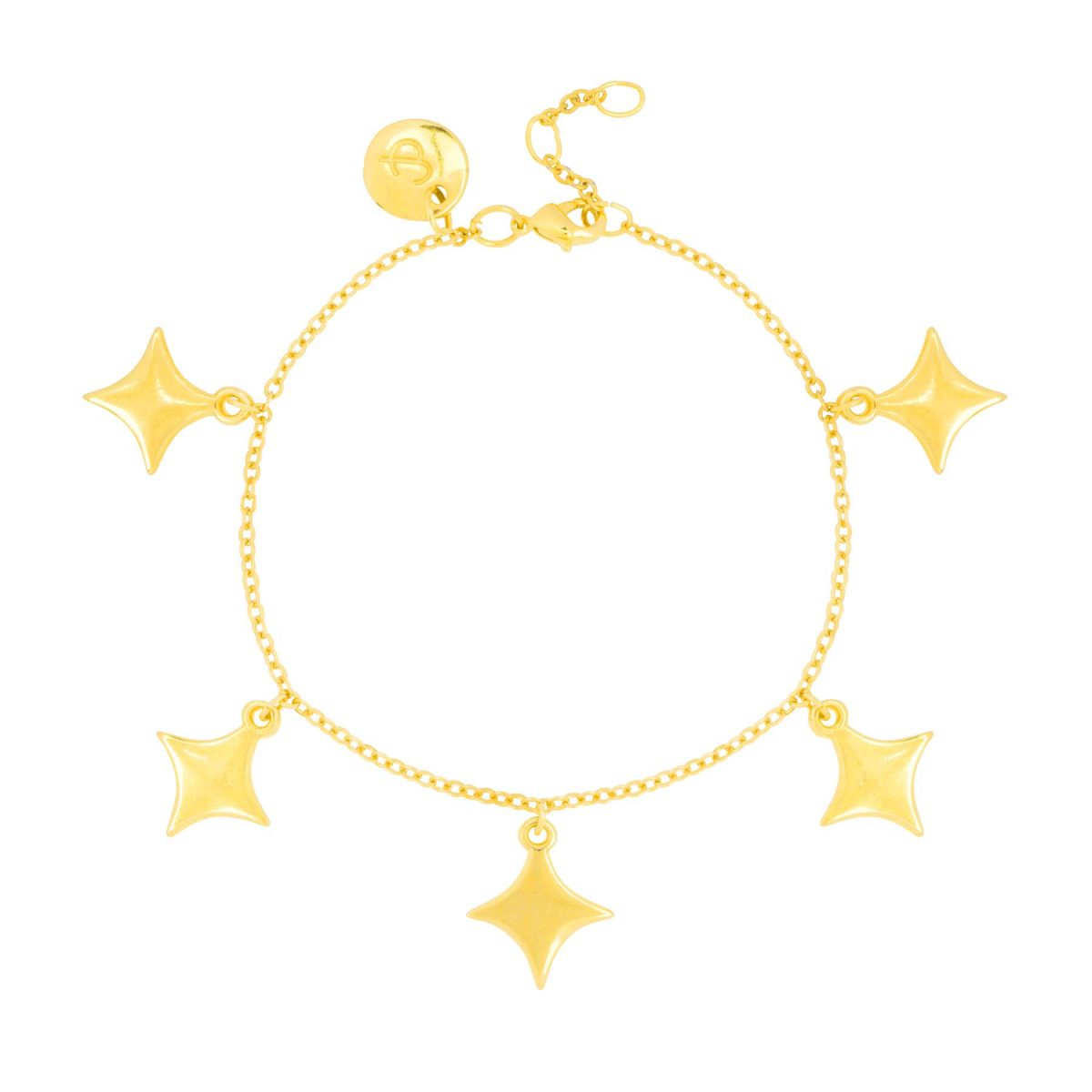 Trendy 24k gold plated bracelet with sparkle design from the &anne collection